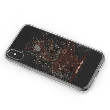 Lopard iPhone Xs Max Kılıf Silikon Arka Koruma Kapak Kahve Zamani Desenli Renkli